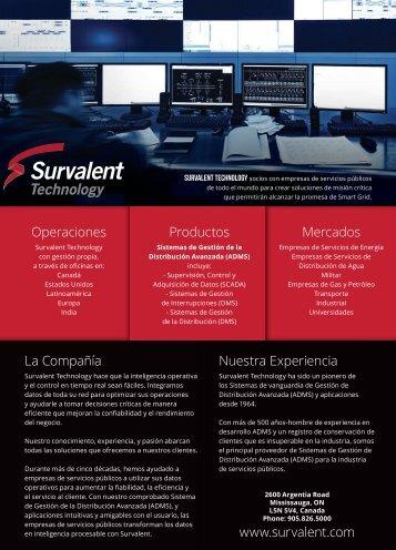 El proveedor más confi- able de soluciones - Survalent Technology