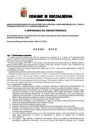 bando di concorso pubblico per architetto - Comune di Pitigliano