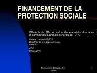 FINANCEMENT DE LA PROTECTION SOCIALE - COE