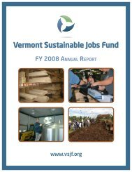 2008 VSJF Annual Report - Vermont Sustainable Jobs Fund