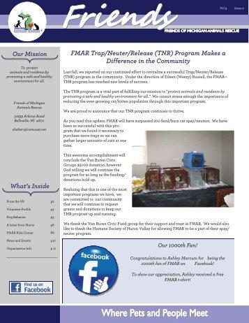FMAR News Q311 - Friends of MI Animals Rescue