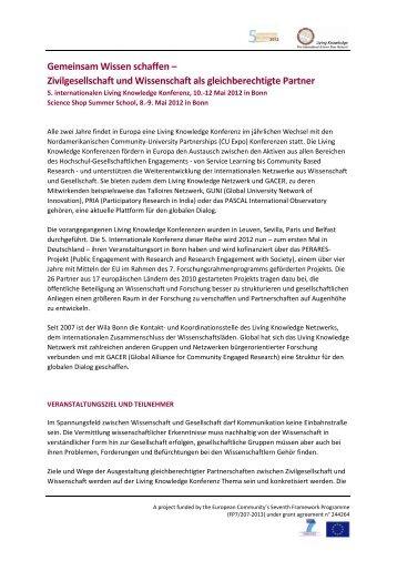 Gemeinsam Wissen schaffen – Zivilgesellschaft und ... - cipast