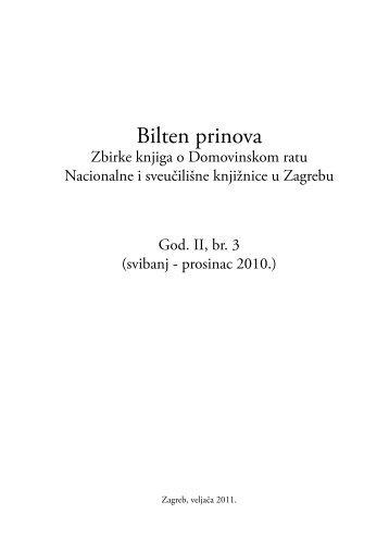 God. 2, br. 3 (2010.) - NSK - Nacionalna i sveučilišna knjižnica u ...