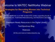 Slides: Strategies for Recruiting Women into Technical ... - ATE Central