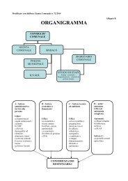 allegato b-c: organigramma e funzionigramma del comune