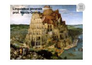 Linguistica generale prof. Nicola Grandi - grandionline.net