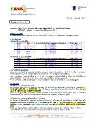 Terza Prova Circuito Nazionale Master 2010-11 – 6 Armi individuali ...