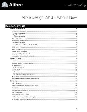 Alibre Design 2013 – What's New