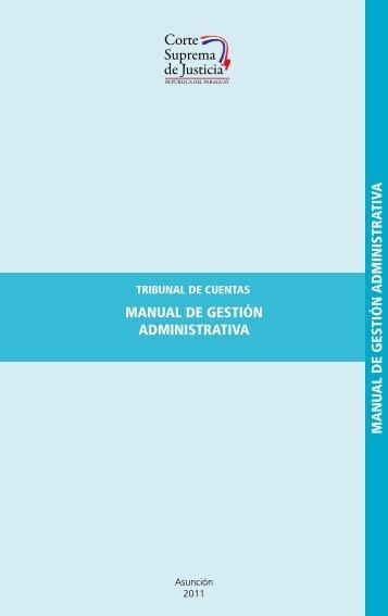 Id2 973 Manual De Gestion Administrativa1 - Poder Judicial