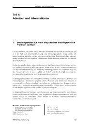 Teil 4: Adressen und Informationen - INBAS-Sozialforschung GmbH