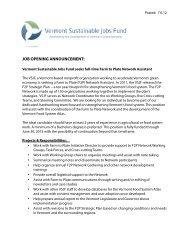 Biofuels Director - Vermont Sustainable Jobs Fund