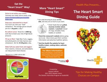The Heart Smart Dining Guide - Health and Wellness