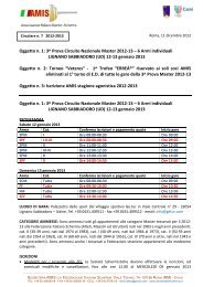 3^ Prova Circuito Nazionale Master 2012-13 - Federazione Italiana ...