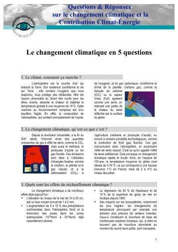 Le changement climatique en 5 questions - Soup