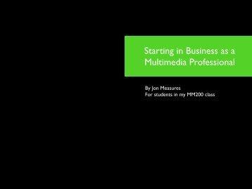 Starting a Business Handout - jon measures