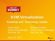 KVM Virtualization Roadmap and Technology ... - Red Hat Summit