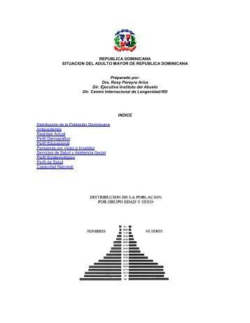 Situación del adulto mayor en República Dominicana - Red ...