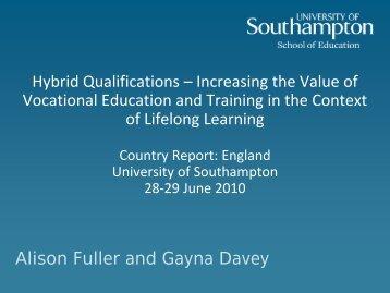 Presentation UK A. Fuller - Hybrid Qualifications