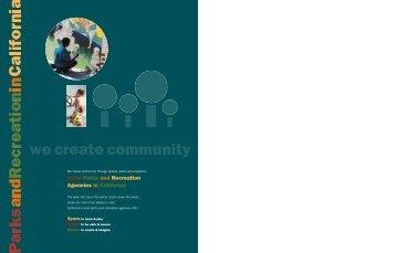 we create community - California Park & Recreation Society