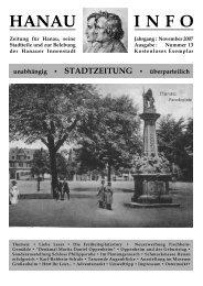 November 2007 Ausgabe - Hanau-Info
