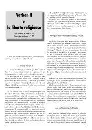Le concile Vatican II Quelques conséquences visibles du ... - Dici