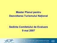 Master Planul pentru Dezvoltarea Turismului Naţional - Bed and ...