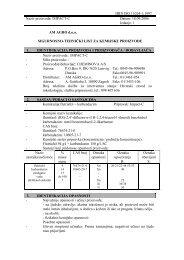 HRN ISO 11014-1:1997 Naziv proizvoda: IMPACT ... - AM AGRO doo
