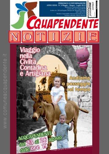 Maggio - Giugno - Luglio 2012 - Comune di Acquapendente
