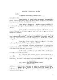 Convocatoria ingreso nº58 primaria Res. 2640/13 - UnTER