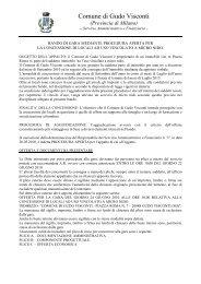 Bando concessione locali ad uso esclusivo Micro Nido - Comune di ...