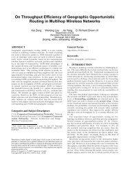 On Throughput Efficiency of Geographic Opportunistic Routing in ...
