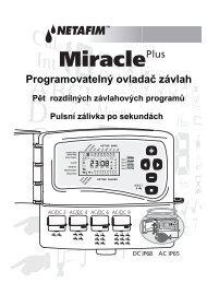Návod Miracle Plus
