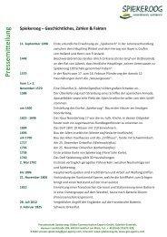 Geschichtliches, Zahlen & Fakten - Spiekeroog