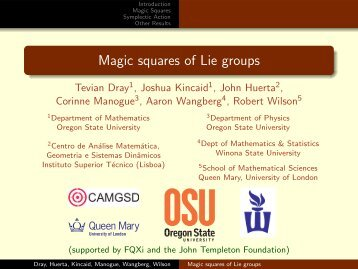 Magic squares of Lie groups