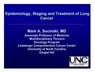 Epidemiology, Staging and Treatment of Lung ... - SIR Foundation