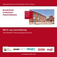 Mit Dr.-Ing. Gerd Geburtig Brandschutz im Bestand ... - Priorit