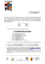 Trofeo del Sabato 2012 - FIS - Comitato Regionale Emilia Romagna