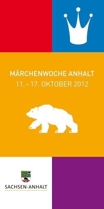 märchenwoche anhalt 11. – 17. oktober 2012 - Märchenland ...