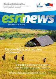 ESRT Newsletter of the Responsible Tourism ... - Eurocham