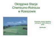 Właściwości agrochemiczne gleb województwa podkarpackiego w