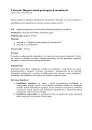 Ćwiczenie: Diagnoza moich predyspozycji zawodowych