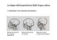 Le tappe dell'acquisizione della lingua nativa - grandionline.net