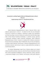 WOJEWÓDZKI URZĄD PRACY - Mazurski Pakt na Rzecz Rozwoju ...