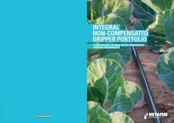 INTEGRAL NON-COMPENSATED DRIPPER PORTFOLIO - Netafim