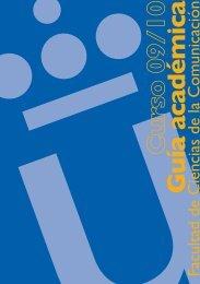 Guía académica - Facultad de Ciencias de la Comunicación