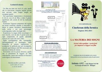 Dal programma della stagione 2012-2013 - Cineformica.org