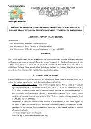 avviso locazione immobile - Comune di Pitigliano