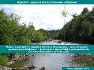 Raport powodziowy Inspekcji Ochrony środowiska – podsumowanie ...