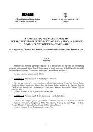 scarica il Capitolato gara integrazione scolastica - Piano Sociale ...