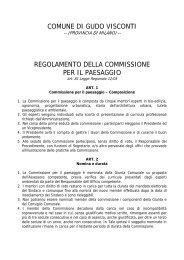 comune di gudo visconti regolamento della commissione per il ...